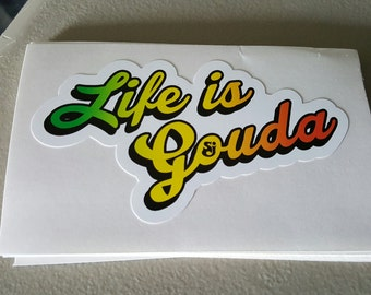 """String Cheese Incident """"Life is Gouda"""" stickers (20 pack)"""