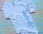 Baby Gown Coming Home Outfit First Baby Gown New Baby Name on Gown