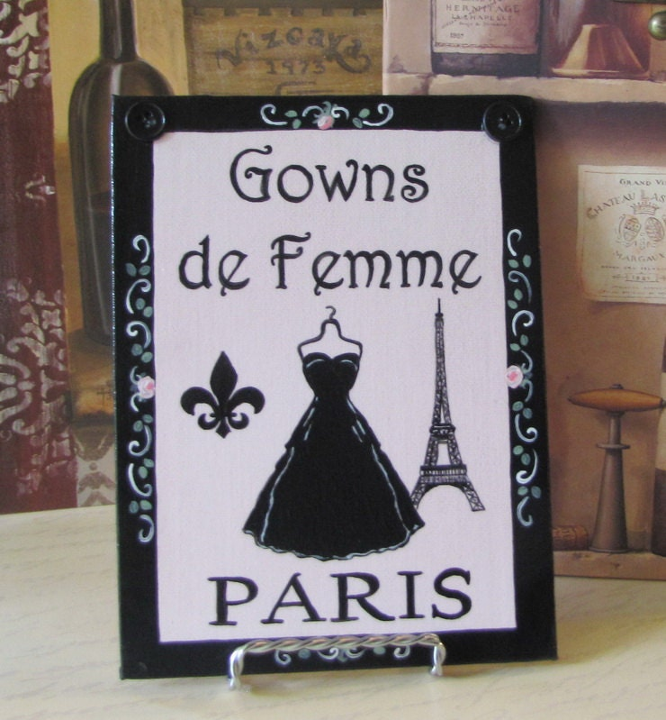 Paris decor painting french chic decor paris bedroom decor for Boutique decoration paris