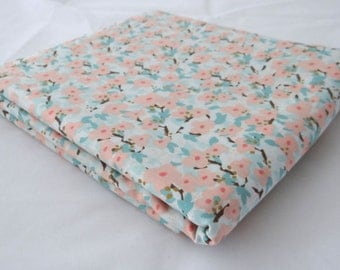 LULLABY Bloom Baby Fabric 3 yds Kate & Birdie Moda woodland branches modern sewing maker quilting peach aqua 3 full yards 13150-11