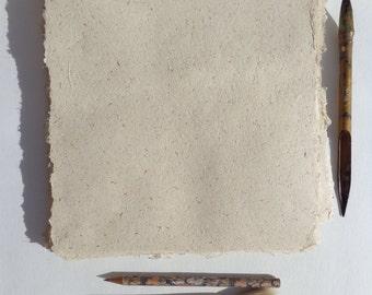 NEW  8 x 10 inch Natural Hemp Paper