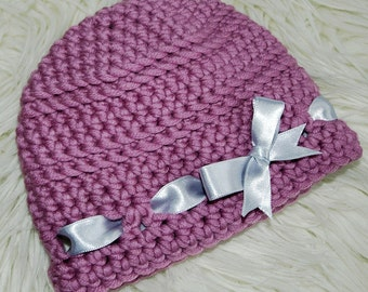 Girl Crochet Hat pattern, Baby girl pattern, Toddler Crochet hat pattern, Easy crochet hat pattern, Baby Ribbon Crochet Hat pattern (C119)