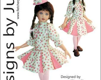 "PDF Flirty Dress Pattern for 14"" Kish Dolls"