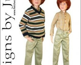 "Hogwart's Prep Pattern for 12"" Harry & Ron Dolls Harry Potter Tonner"