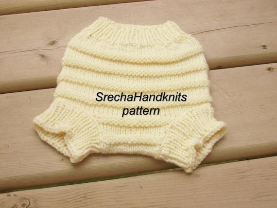 Knit Wool Diaper Cover Pattern : PDF Knitting Pattern Baby Diaper by SrechaHandknits on Etsy