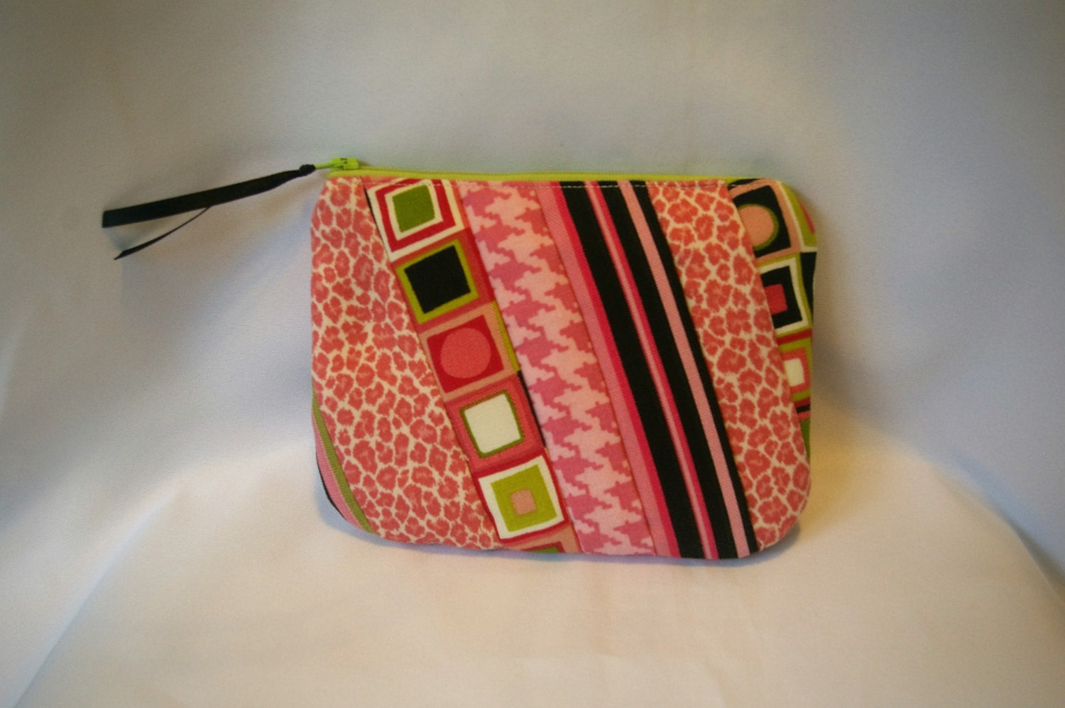 Small Patchwork Zipper Pouch/Diabetic Supply Bag/First Aid