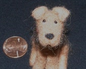 Mini Airedale or Welsh Terrier Dog in Needle Felted Wool
