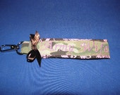 Army Wife Multicam Pink and Brown Key Chain