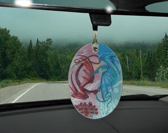 Double Dragons Car Charm/Yule Ornament