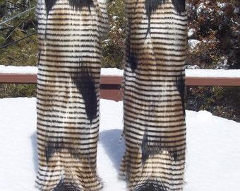 Feather Faux Fur Leg Muffs