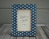 4x6 photo frame, painted frame, polka dot, decorative frame, picture frame, housewarming gift