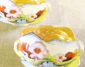 Small Porcelain Bowls , Ring Dish , Soap Dish , Serving Bowl , Nut Dish , Nut Bowl , Asian , Lusterware , Hand Painted , Japan , Antique