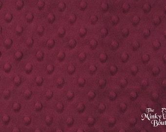 Minky Dot Fabric - Grape