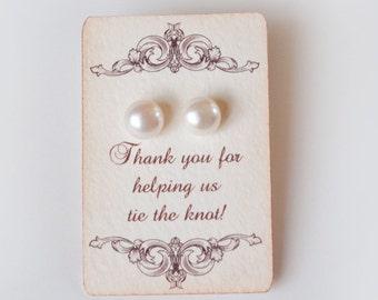 Bridesmaid Gift Idea 4 sets Jewelry Wedding Earrings Bridesmaid Gift Pearl Studs Dutchpearl gift  fairytale fairy tale princess wedding