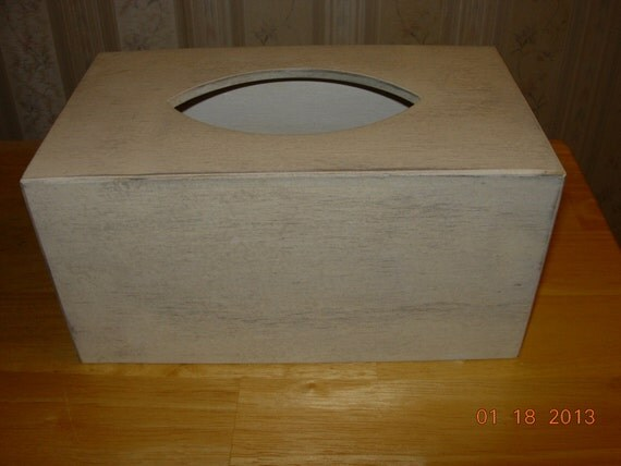 Primitive Tissue Box Cover - Kleenex Family Size - Made to Order - Color Choice