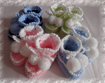102.Crocheted baby booties