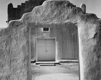 Ansel Adams adobe structure 8 1/2  x 11