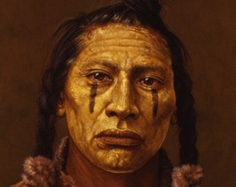 Native American art 8 1/2 x 11 image Wild West indians reproduction