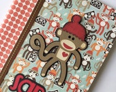 PERSONALIZED - Sock Monkey Composition Book