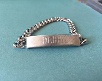 Vintage Debbie name bracelet ID bracelet