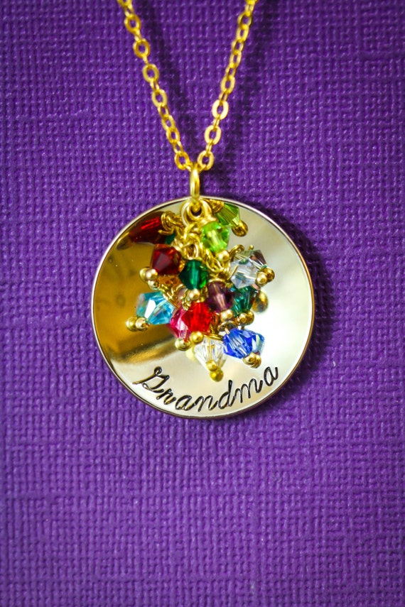 Personalized Grandma Gift Grandmother Necklace By