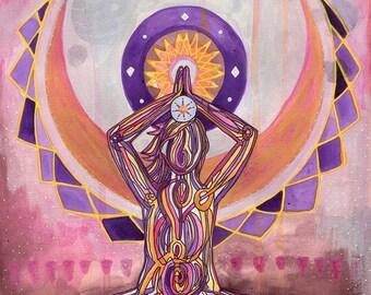 Crown Chakra | Yoga Art Print