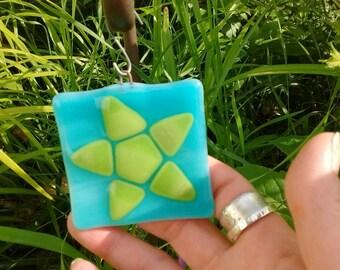 Fused glass - glass sun catcher -star -garden art - home decor - fused glass art - star sun catcher - star lover - celebration star - gift