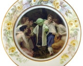 """Yoda and the Nymphs Portrait Plate  - Altered Vintage Plate 10.25"""""""