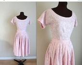 SALE 50% OFF 1960s Dress / Day Dress / Full Skirt (s)