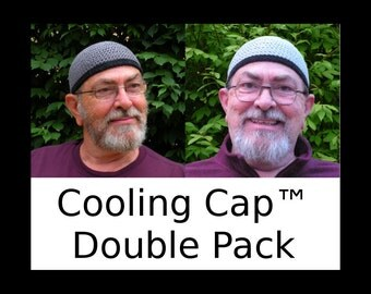 Mens Cotton Cooling Cap™ Double Pack: Armor Gray and Light Gray W Black Bands