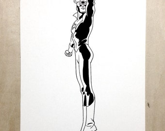 Booster Gold Jesse Hamm original ink sketch
