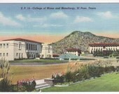 College of Mines University of Texas UTEP El Paso TX 1940s postcard