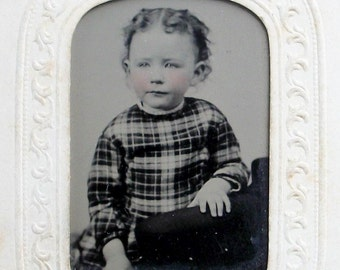 Tintype - Little Angel in Plaid