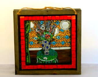 Stained Glass Mosaic Mural/ Wall Hanging