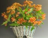 RESERVED for Leslie - Unique flower vase/flower brick