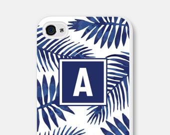 Monogram iPhone 5s Case Tropical iPhone Case Leaves iPhone 6 Case Blue iPhone 5c Case Samsung Galaxy S6 Case Tropical iPhone 6s Case