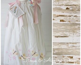 Butterfly Dress Antique Girls Dress Sundress Pillowcase Dress Easter Dress Vintage Dress 3T dress (Ant706) FREE CLIP