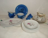 Assortment of Vintage Made in Japan Porcelain Toy Dishes