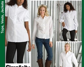 Simplicity Shirt Pattern 3684 - Misses' Shirt in Two Lengths - Sz 8/10/12/14/16 - Threads Magazine Collection