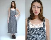 90s Overall Dress  //  Rayon Dress  //  THE MOLLY
