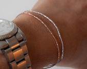 Delicate beaded friendship bracelet, dainty beads, wish bracelet with clasp