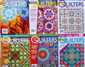 Quilters Newsletter Magazines Six Issues 2011 Quiltsy Destash Party
