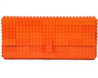 Orange clutch purse made with LEGO® bricks FREE SHIPPING purse handbag legobag trending fashion
