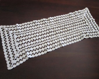 vintage table runner - 12 x 34 inches