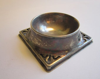 vintage EPNS trinket dish - silver plated - made England - well style trinket dish, ring dish, coin dish - 3 x 3 inches