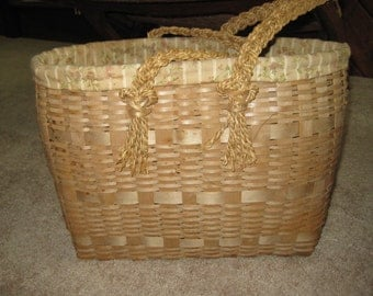 Penobscot Indian antique gathering basket- large-final sale