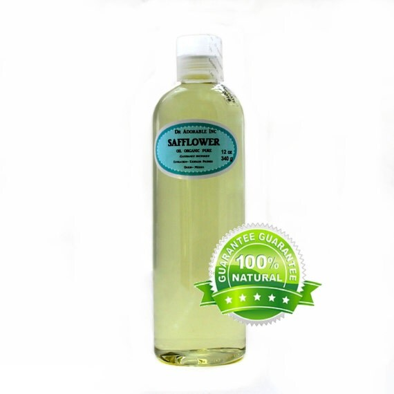 12 Oz Safflower Oil 100% Pure Organic  Cold Pressed