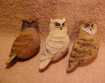 National Wildlife Federation Magnetic Owl Figurines - Set of 3