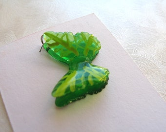 Leaf Butterfly Charm