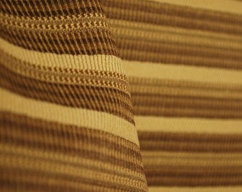 Brown Horizontal Stripe Upholstery Fabric